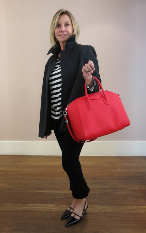 look - stripes and red