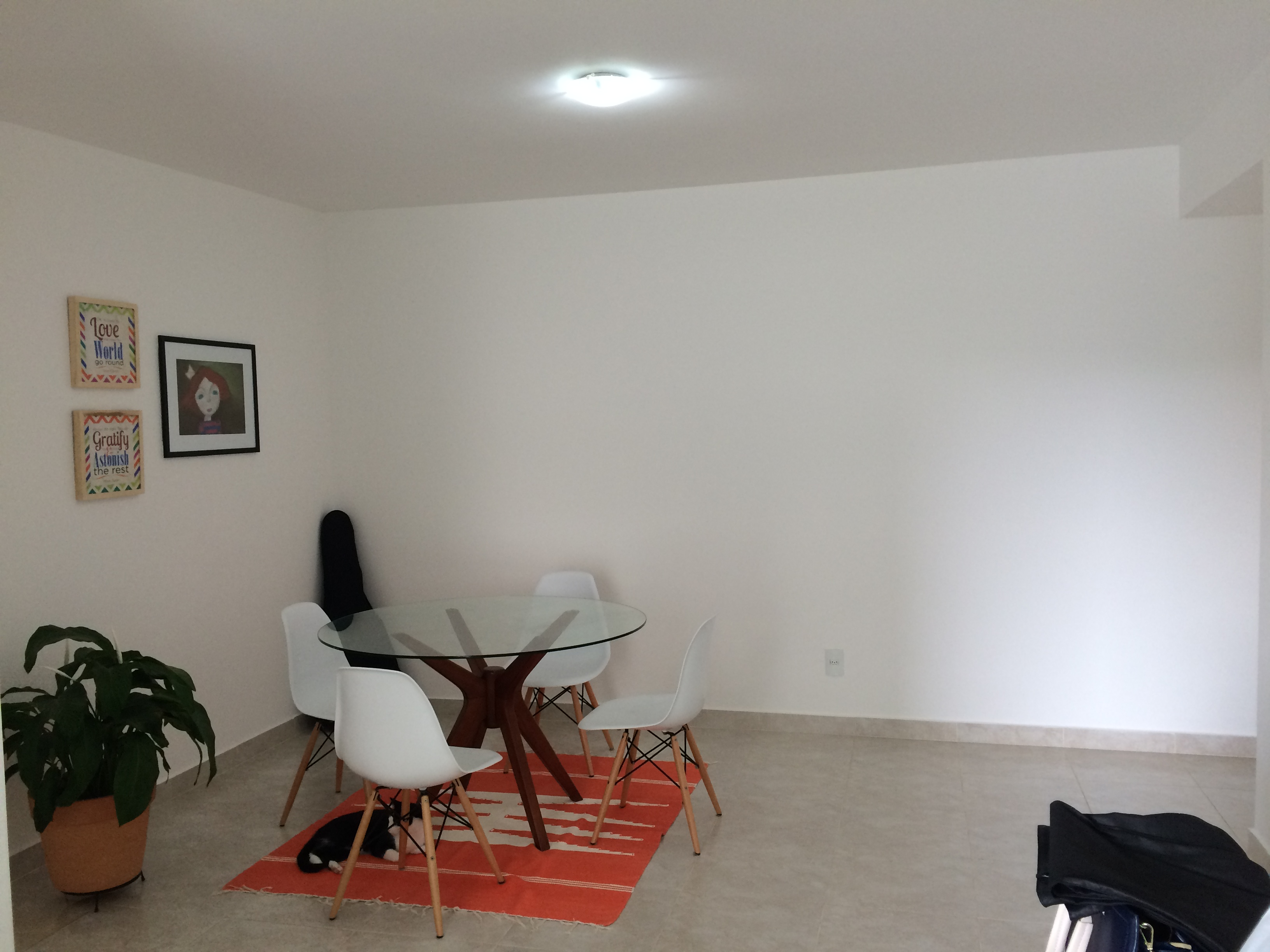 Decorao Para Paredes De Sala Combinando Cores Na Decorao Sala  -> Sala Branca Com Parede Colorida