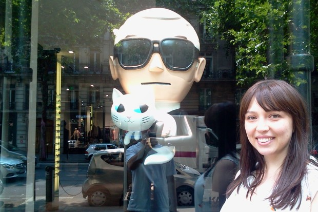 Karl e sua gata Choupette