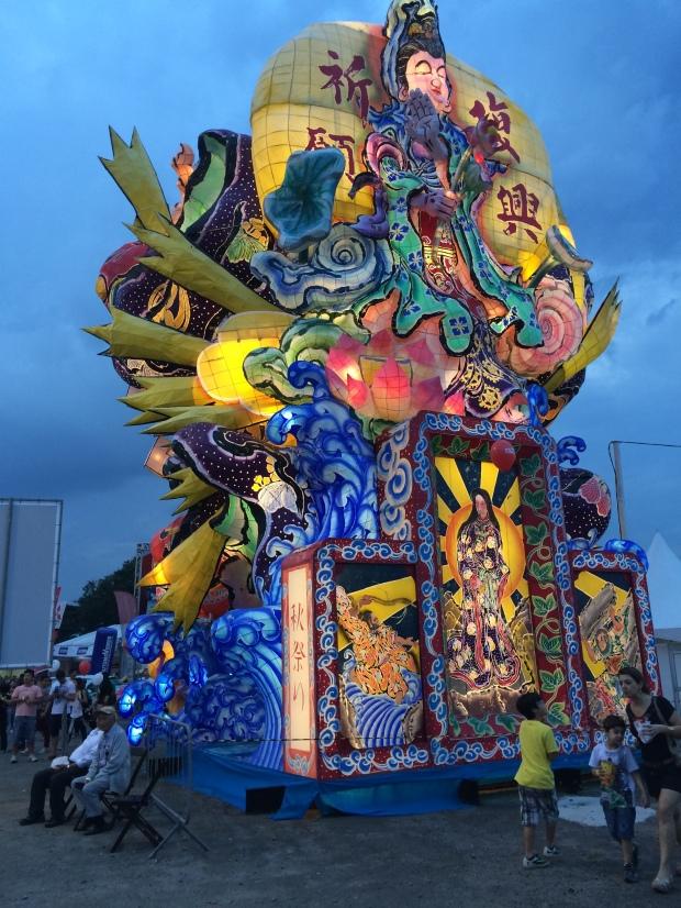 Carro alegórico utilizado no Festival de Tachi Neputa, no Japão.