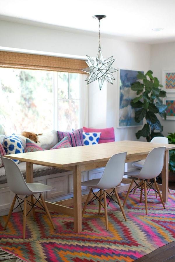 cadeira eames tapete colorido