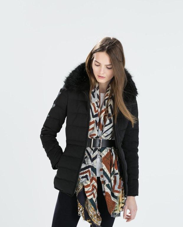 casaco com lenço